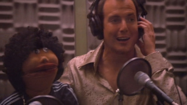 Franklin and Gob in the studio