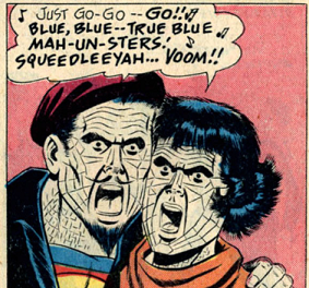 Bizarro Cool Cat Combo featuring Bizarro-Hipster No. 1 and Weep-and-Wail Bizarro Lois